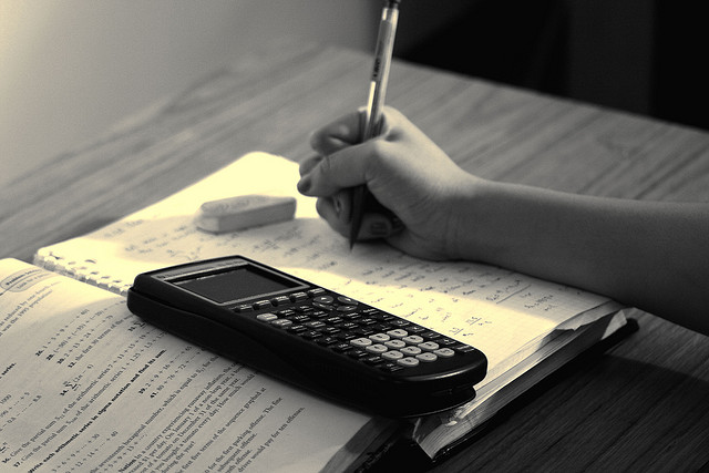 Photo of a person studying