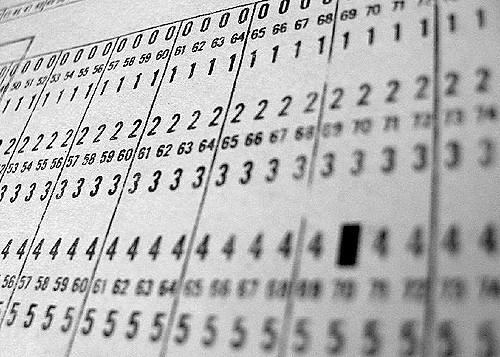 Computer punch card detail