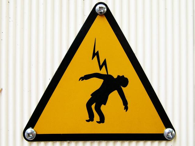 Photo of warning sign.