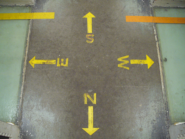 Directional Lines on the Floor of Hatcher Library