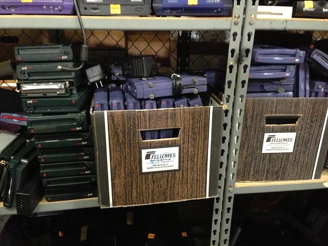 Boxes of sad Zip disk readers