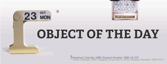 screen shot of Object of the Day web site