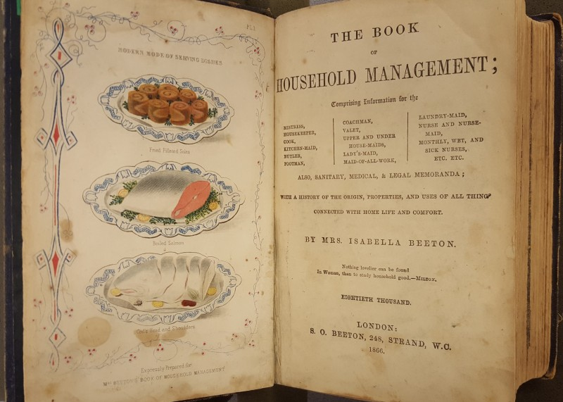 Title page of Mrs. Beeton's Book of Household Management