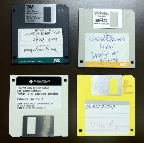 A picture of 3.5 floppy disks from the Robert Altman collection