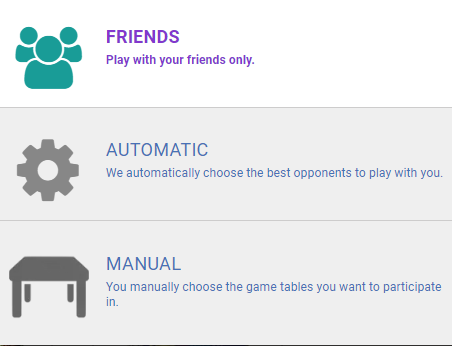 Friends or random player options
