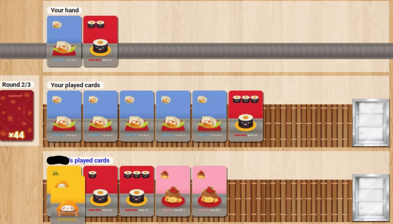 Sushi Go interface