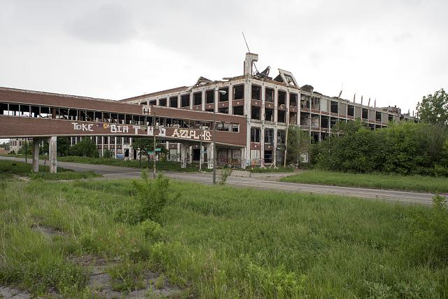 digital phograph of Packard automobile plant