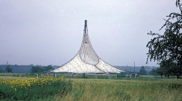 digitized photograph of a tent structure