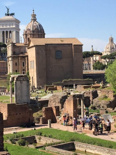 Photo of the Roman Forum.