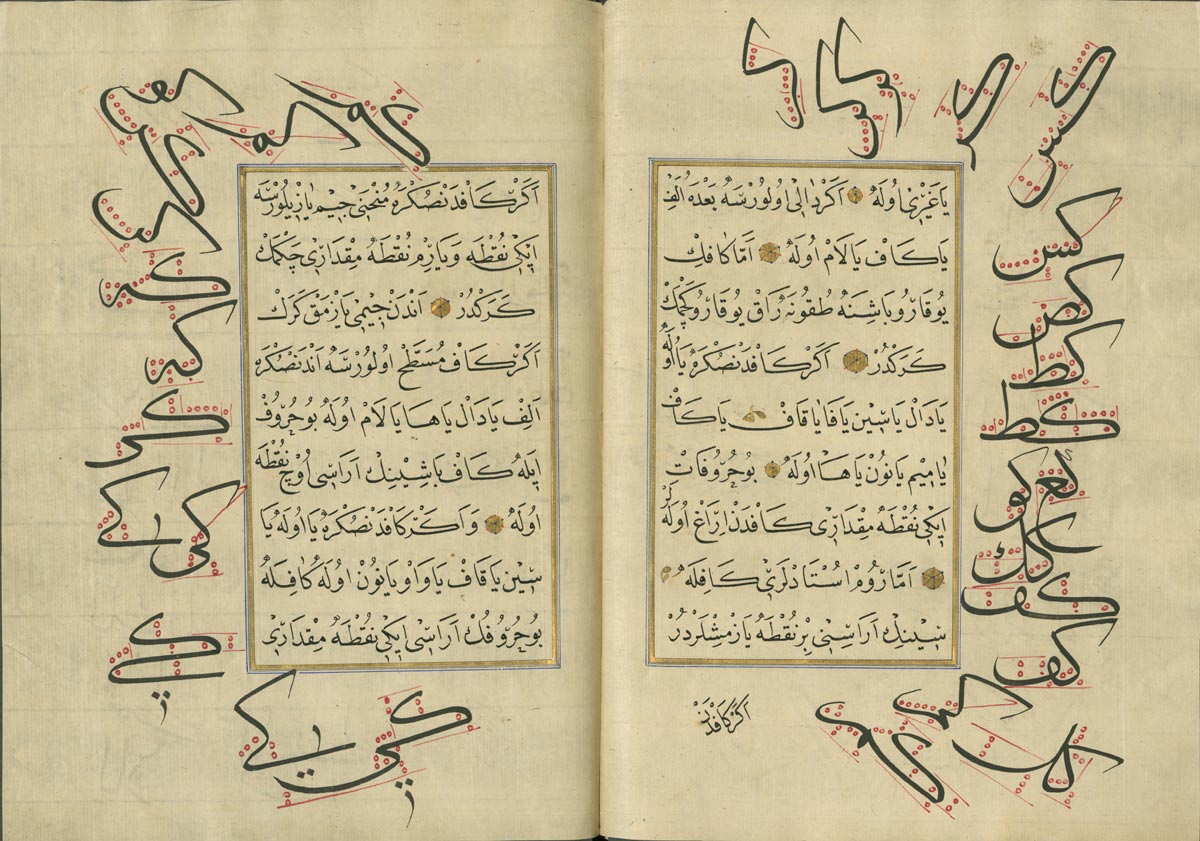 Calligraphy Treatise, Special Collections, Hatcher Graduate Library, Isl. Ms. 401