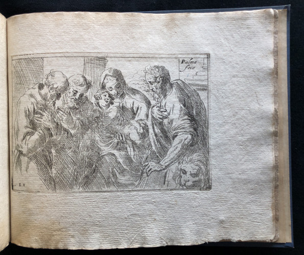One of two engravings by Jacopo Palma the Younger that were added to Fialetti's original collection of engravings, from Odoardo Fialetti. Il vero modo et ordine per dissegnar tutte le parti et membra del corpo humano (The Accurate Technique and Order to Draw the Parts and Members of the Human Body) Venice: Remondini, ca. 1700s