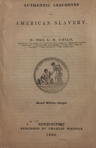Cover page of Authentic anecdotes of American slavery.