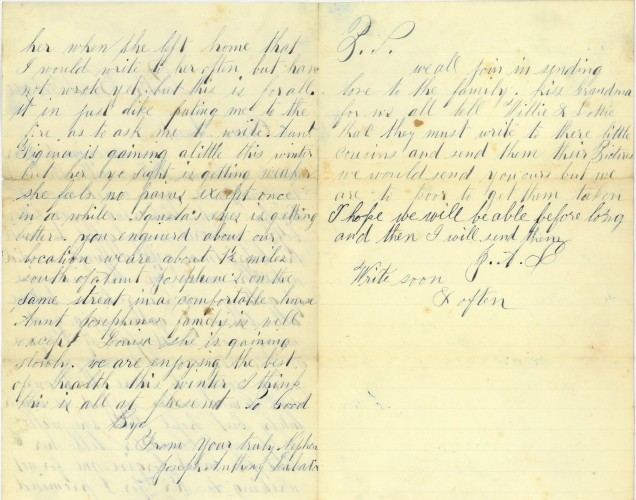 Pages 2-3 of letter from Joseph Labadie.