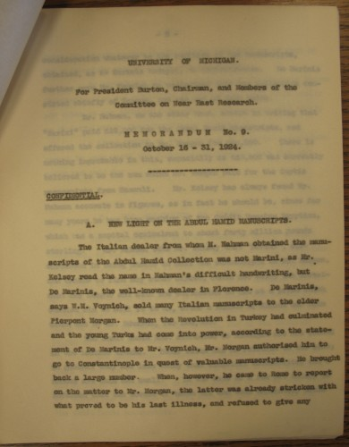 View of typed document