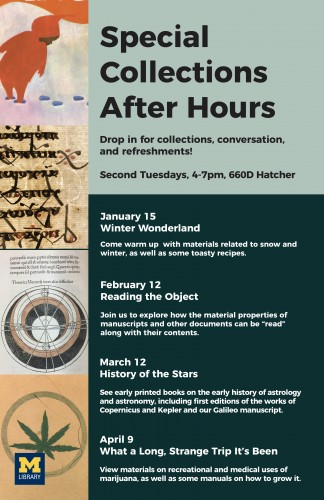 poster for winter term After Hours events