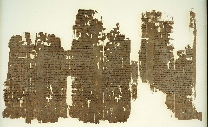 Astrological Treatise. p. Mich. inv. 1. Karanis, Egypt; In Greek; 2nd c. AD. Columns 1-4. Papyrus; overall size of fragments 1-10 (col. I-XV) is ca. 23.8 x 140 cm.