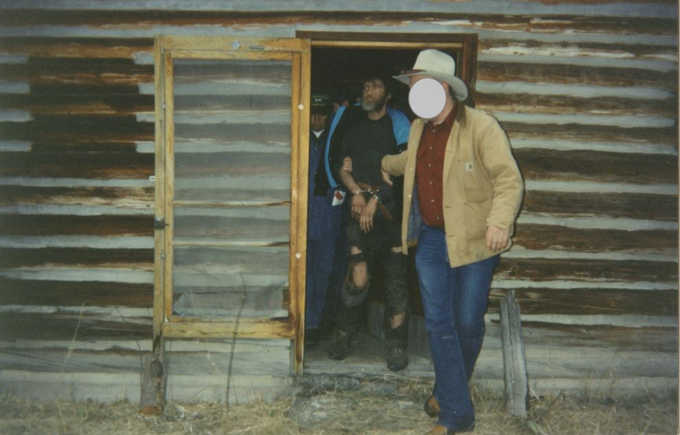 Kaczynski's arrest on April 3, 1996 at his cabin in Lincoln, Montana