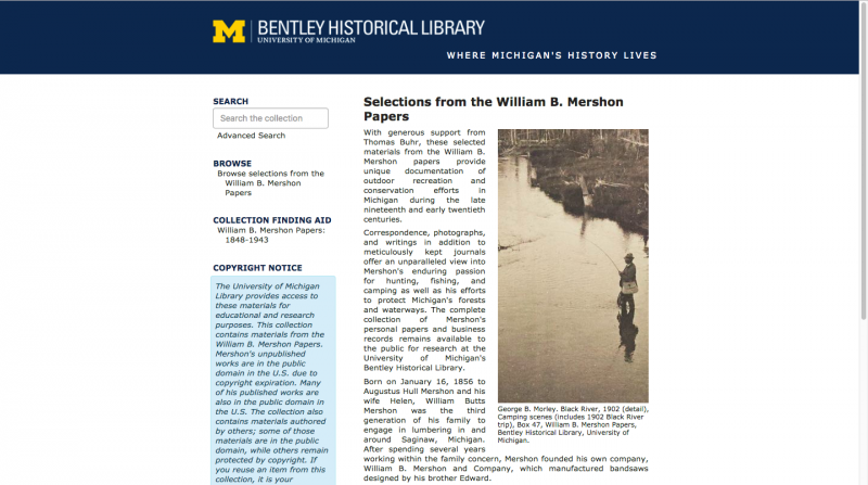 Collection image of Digitized Selections from the William B. Mershon Papers, 1848-1943