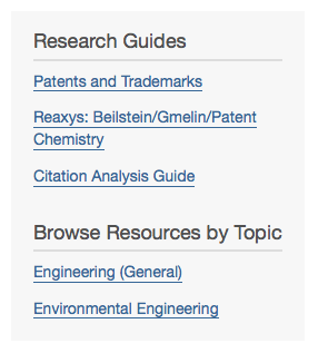 Depiction of Research Guides in library site search results