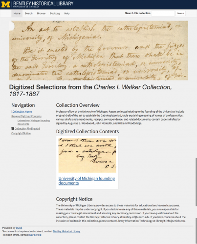 Collection image of Digitized Selections from the Charles I. Walker Collection, 1817-1887