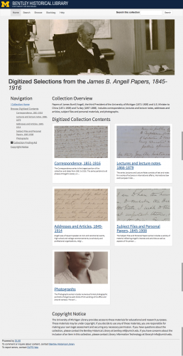 Collection image of Digitized Selections from the James B. Angell Papers, 1845-1916