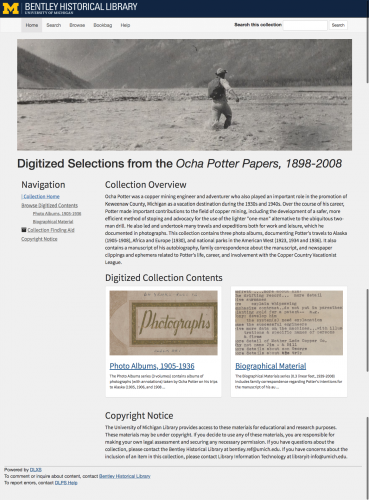 Collection image of Digitized Selections from the Ocha Potter Papers, 1898-2008