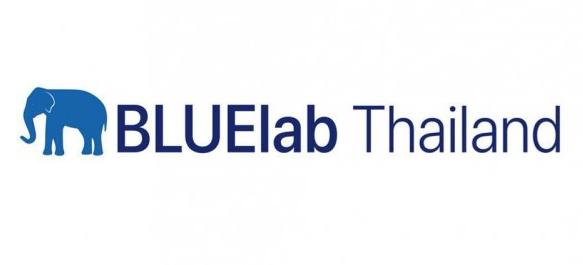 blue elephant next to words Bluelab Thailand
