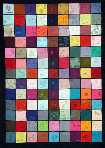 Photo of one side of the Diversity Quilt