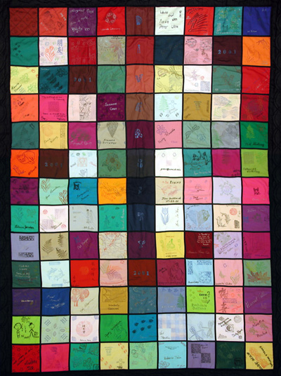 Photo of one side of diversity quilt