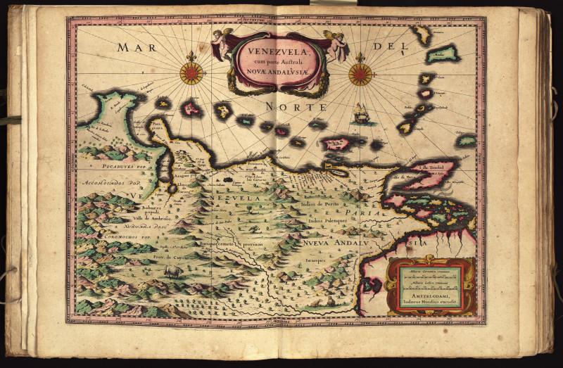 map of Venezuela including several islands off the coast