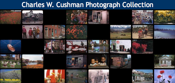 screen shot of Cushman Photograph Collection web page