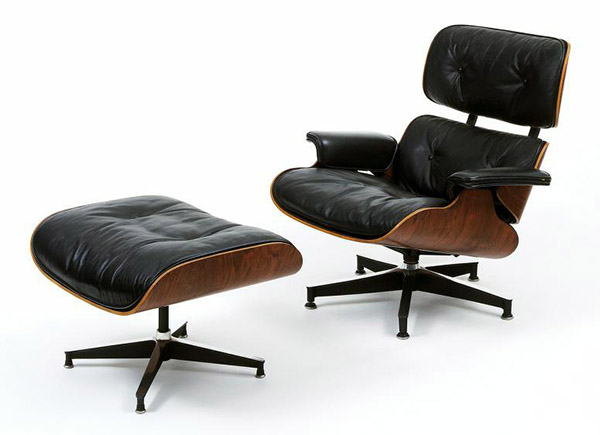Digital image of Eames' Lounge Chair and Stool