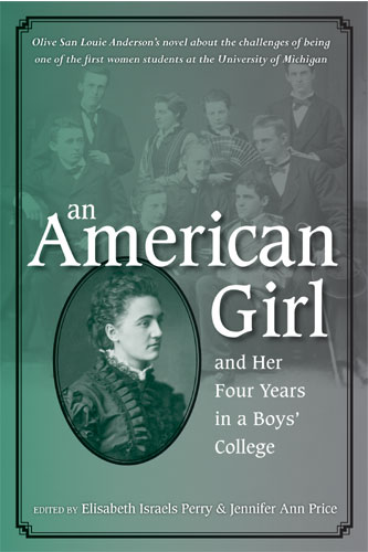 "Cover of the book ""An American Girl, and Her Four Years in a Boys' College"""