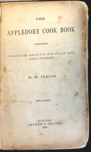 [Title Page] Appledore Cook Book