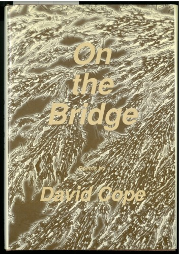 Cover of On the Bridge, showing a sepia-toned close-up of running water