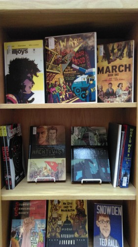 Comics activism display 2