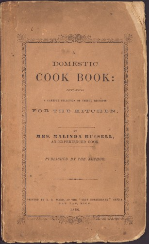 Cover of A Domestic Cook Book.