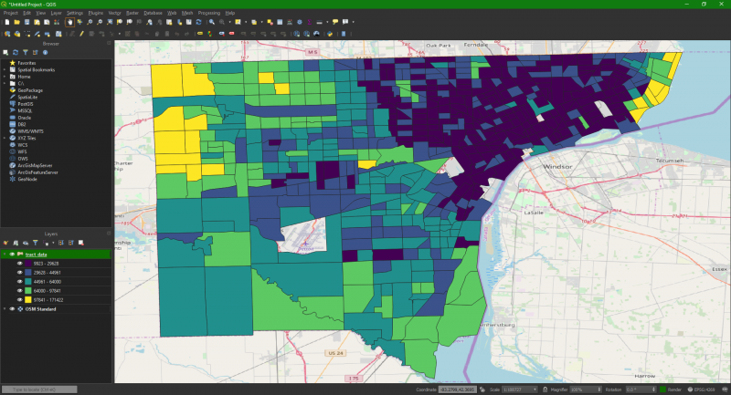 Image of Detroit Income Map