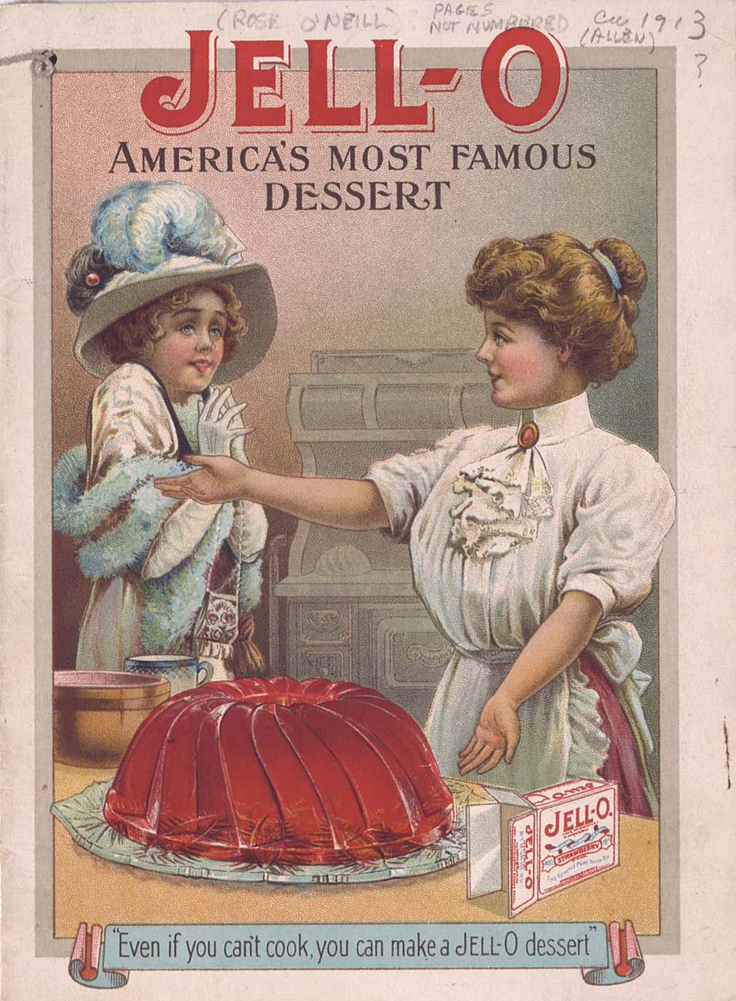 Two women and a large Jell-O mold