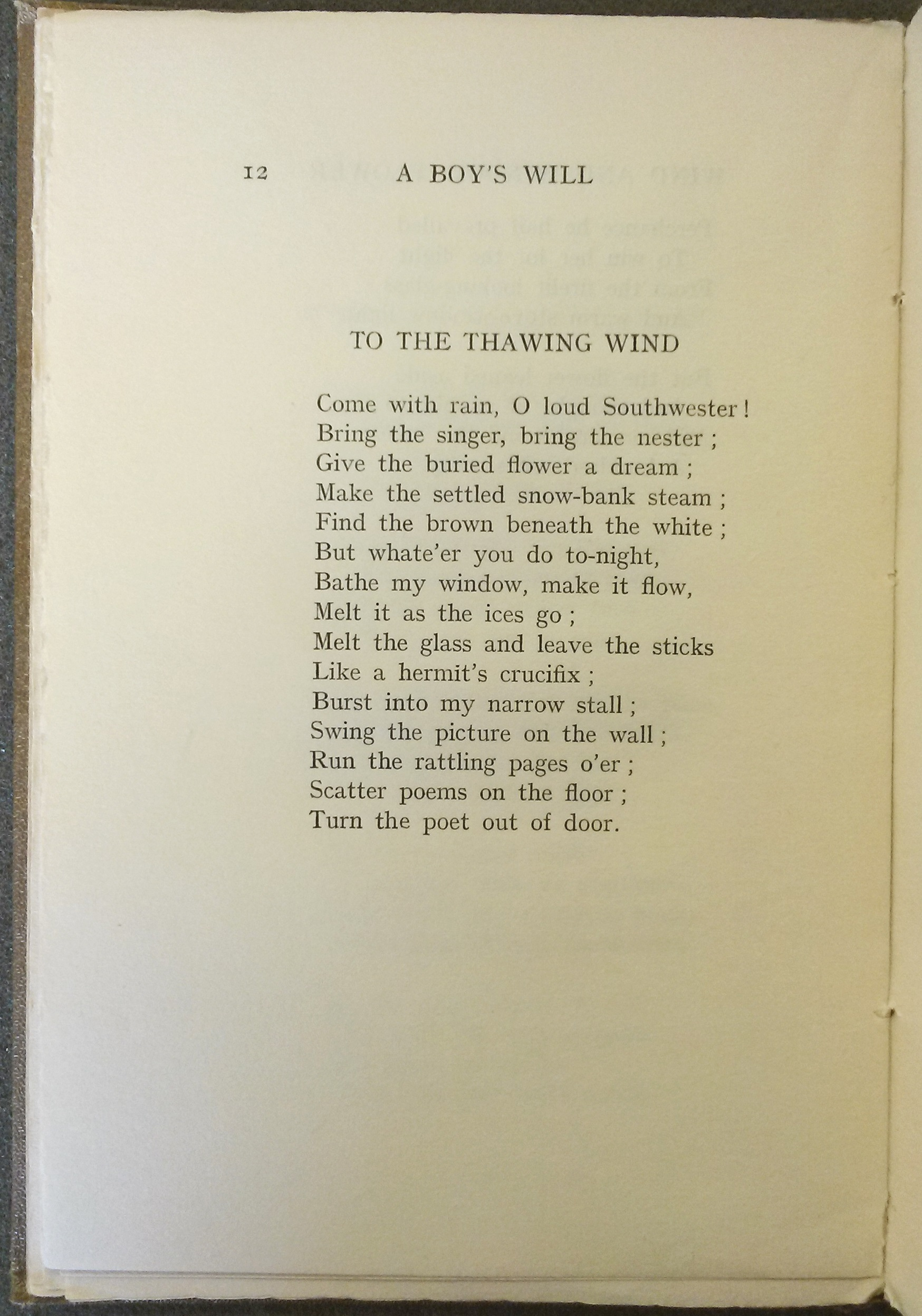"Text of ""The Thawing Wind"""