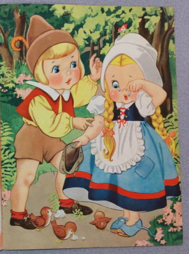 Hansel and Gretel lost in the woods