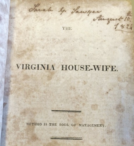The Virginia House-wife title page