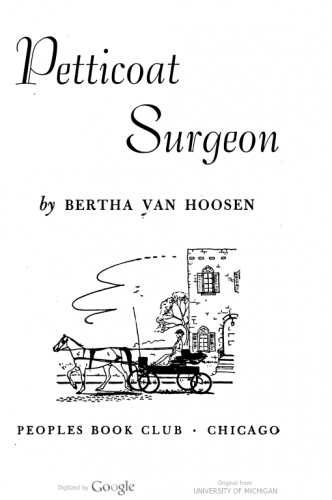 "Inside cover of ""Petticoat Surgeon"""