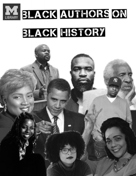 Black Authors on Black History Sign for Shapiro Lobby Book Display