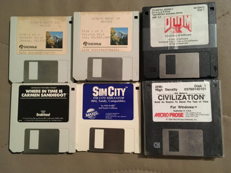 Games on floppy disk