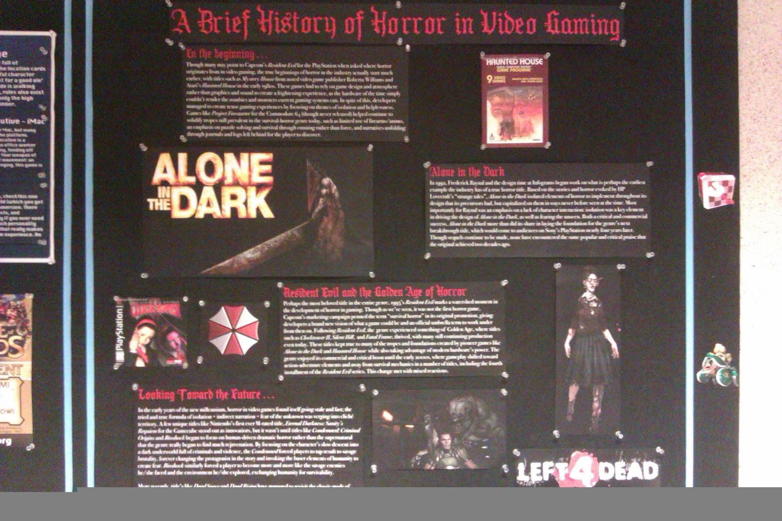 Horror in Video Gaming display