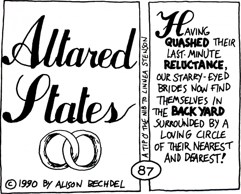 Altared States by Alison Bechdel.