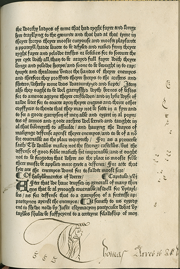 image of text page in incunable book The Fayt of Armes and of Chyvalrye