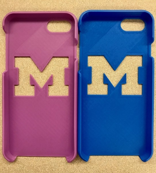 3D Printed Phone Case in Two Colors