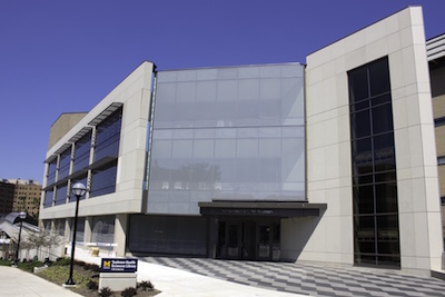 Front of the renovated library building